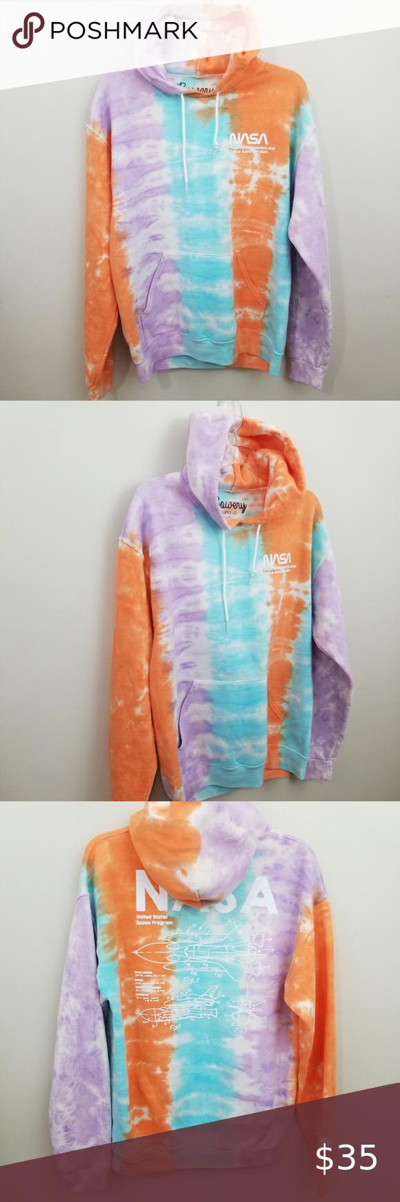 Nasa Hoodie Sweatshirt Tie Dye Size M Tie Dye Nasa Hoodie Sweatshirts Hoodie [ 1740 x 580 Pixel ]
