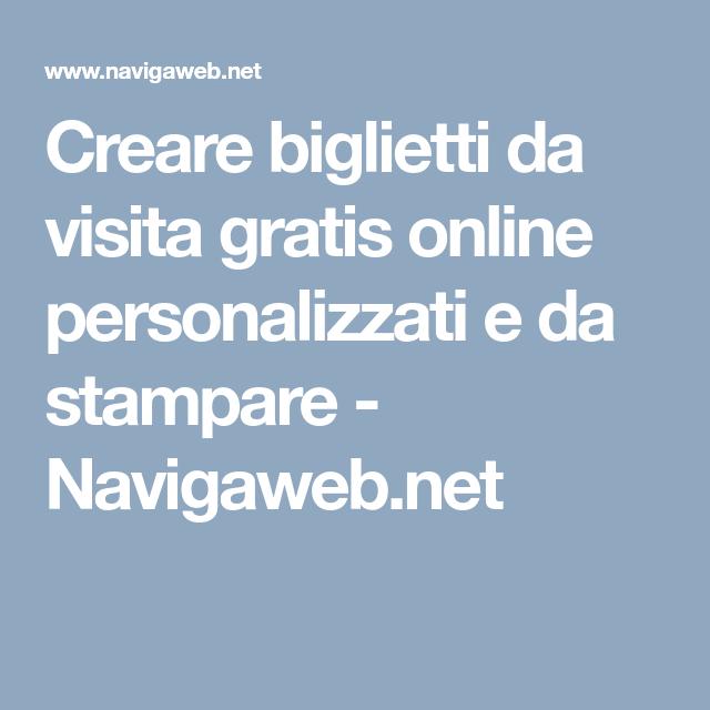 Creare Biglietti Da Visita Gratis Online Personalizzati E Da