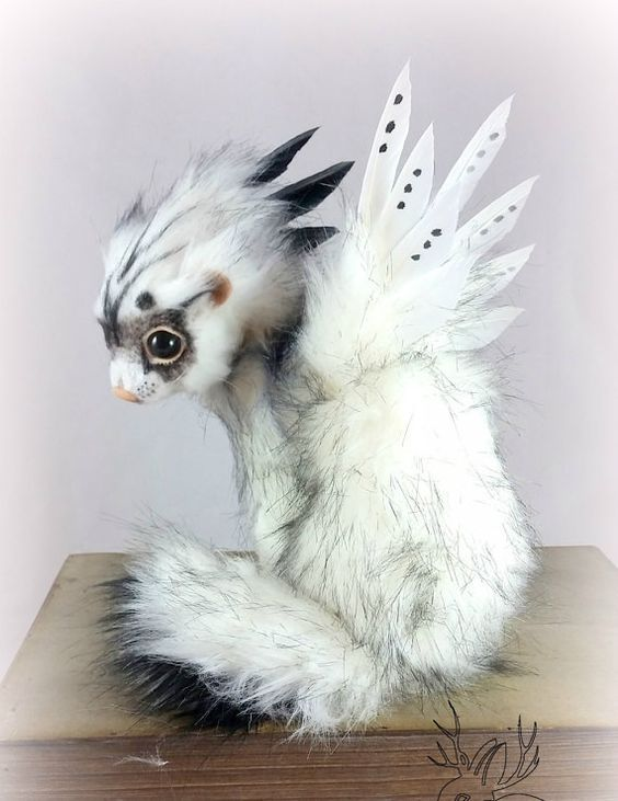 SOLD  Fantasy Ferret  Realistic Art Doll  by RikerCreatures: