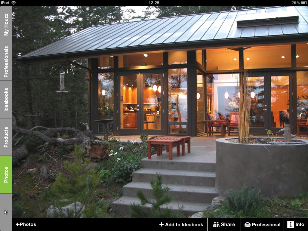 Caba a estructura met lica casas pinterest caba as - Casas con estructura metalica ...