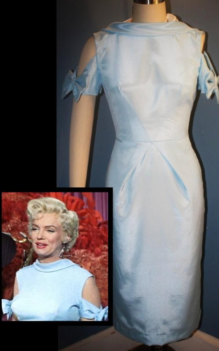 Travilla dress worn by Marilyn in the film 'There's No Business Like Showbusiness', 1954.