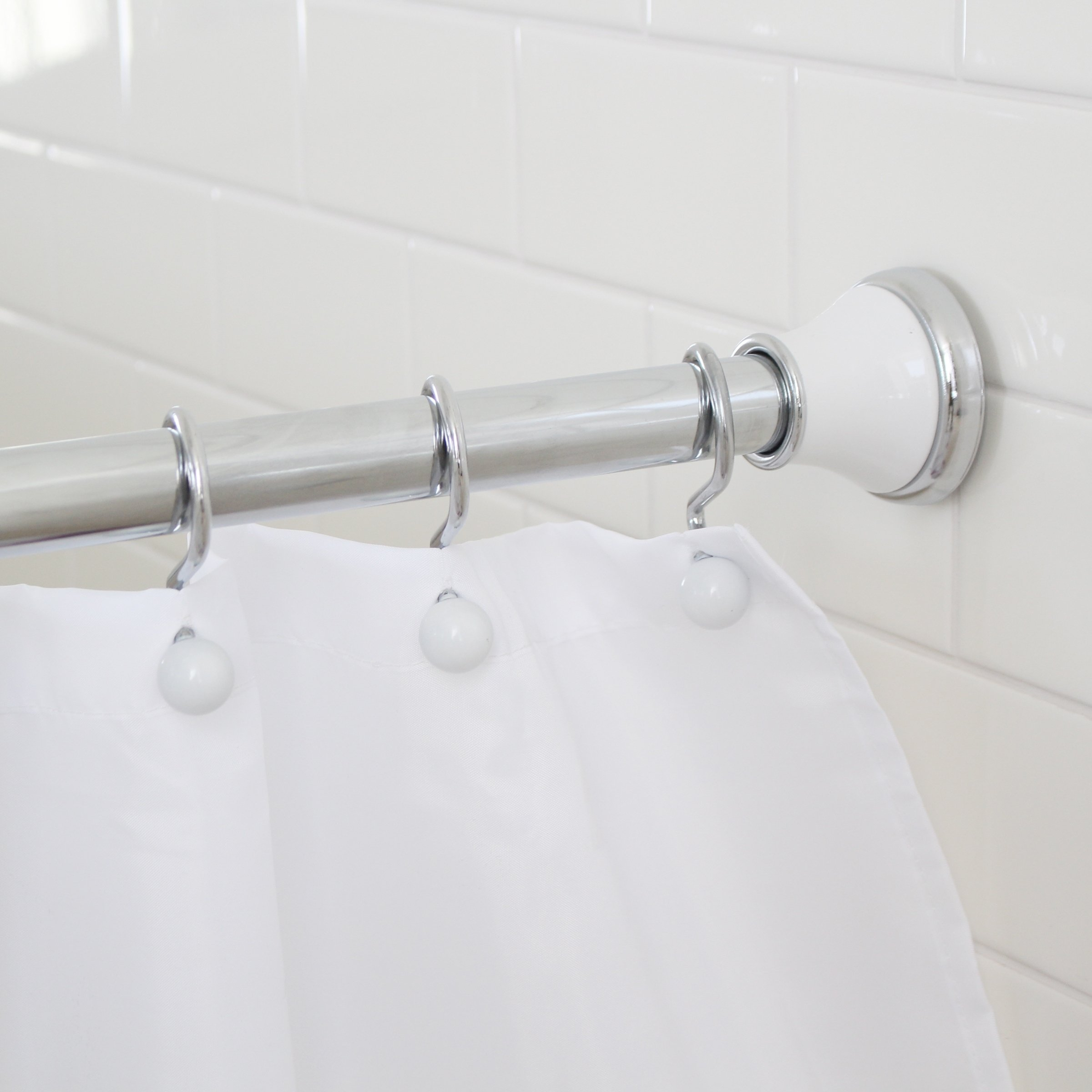 Amazon Com Maytex Metal Double Roller Glide Shower Curtain Ring