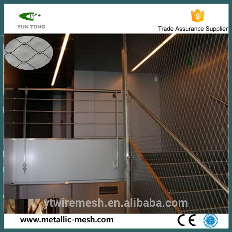 Durable Stainless Steel Stair Railing Safety Net, Stair Safety Netting