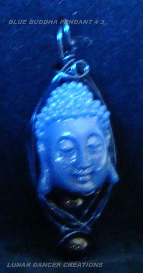 Blue Buddha w/ beads--Focused Communications--$15.00 + S&H