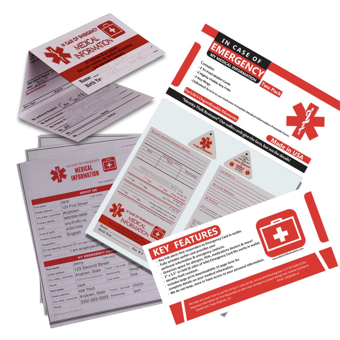 In Case of Emergency My Medical Information Kit (for people ... Safety Medical Information on environmental health and safety, emergency safety, fitness safety, retail safety, sanitation safety, daycare safety, social safety, think safety, surgical safety,