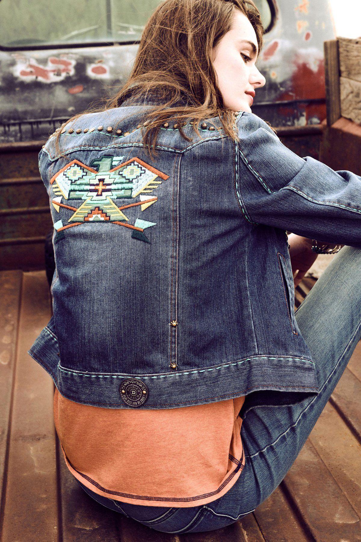 Native Eagle Jacket Embellished Denim Jacket Embellished Denim Womens Fashion Chic [ 1800 x 1200 Pixel ]