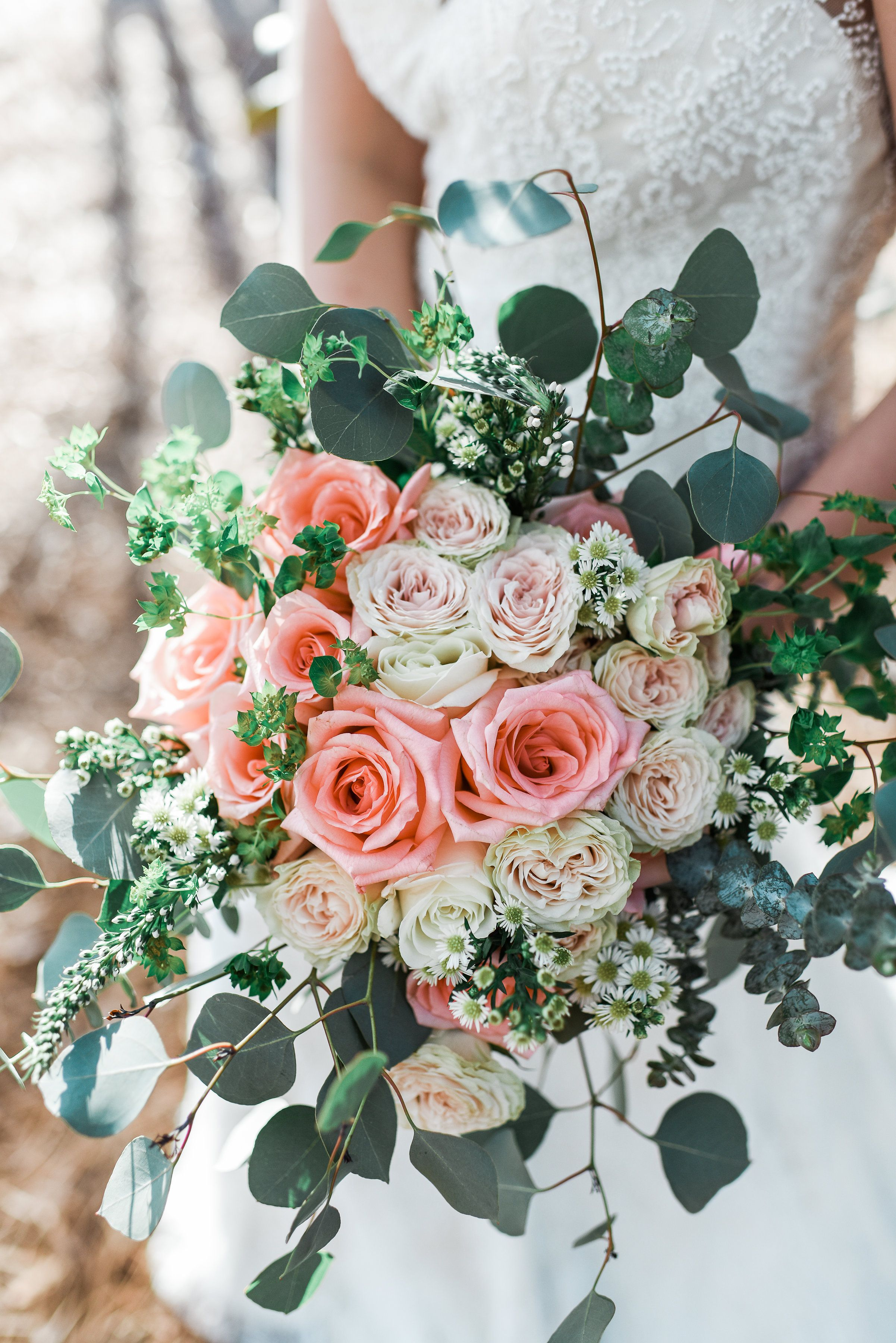 Test Run Bouquet With Costco Peach Roses Assorted Flowers From