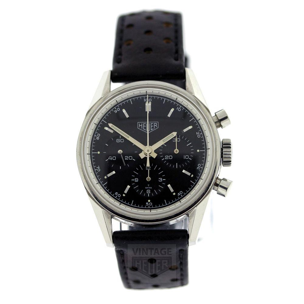 Tag HEUER Carrera Re Edition Chronograph CS3110 Black dial - Vintage