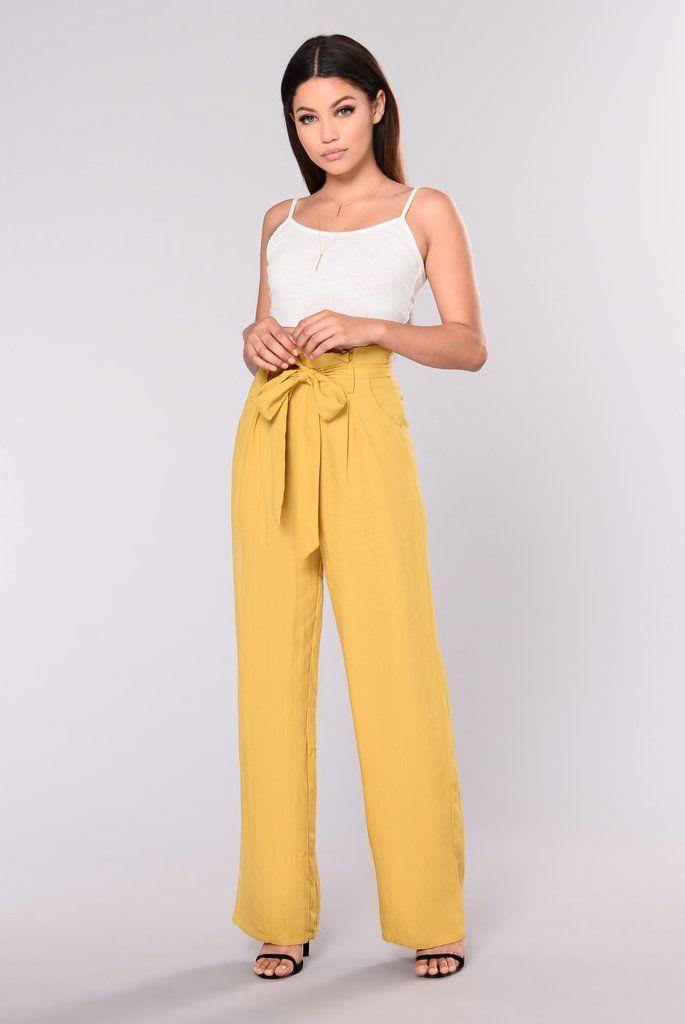 89b6ca6adf9531 Street Ready High Waist Pants - Mustard