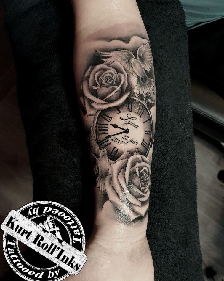 #kurtrollinks #belgiumtattoo #killerink #eternalink #cheyennetattooequipment #realistictattoos #clocktattoo #rosetattoo #dovetattoo #cloudtattoo #inked #tattooed #tattoo #tattootrident
