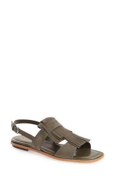 Tod's Open Fringed Sandals In Leather Buy Cheap Fashionable Official Site Online onXHSfcWrW