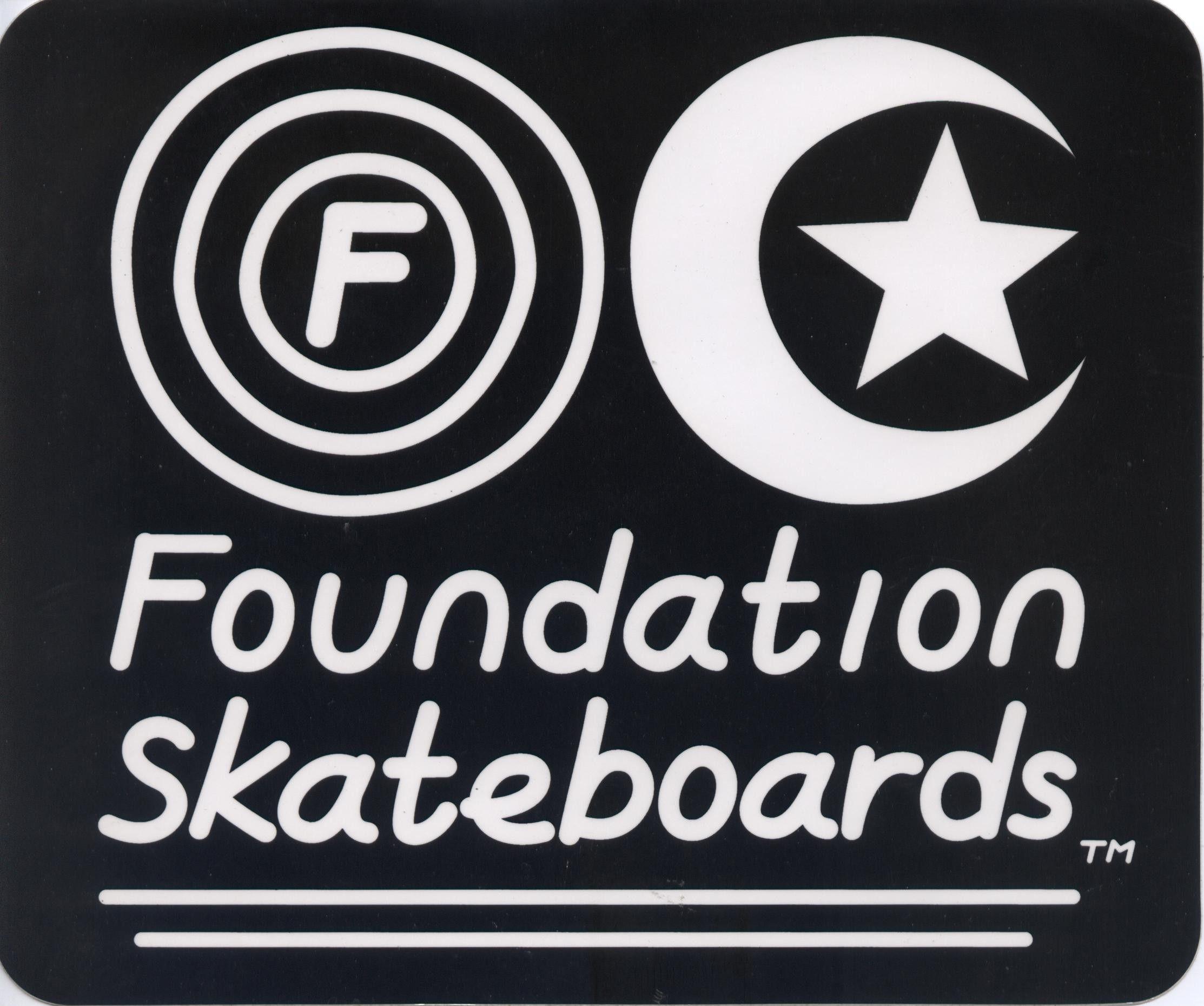 Foundation Skateboards Large Sticker Foundation Skateboards Skateboards Skateboard Logo