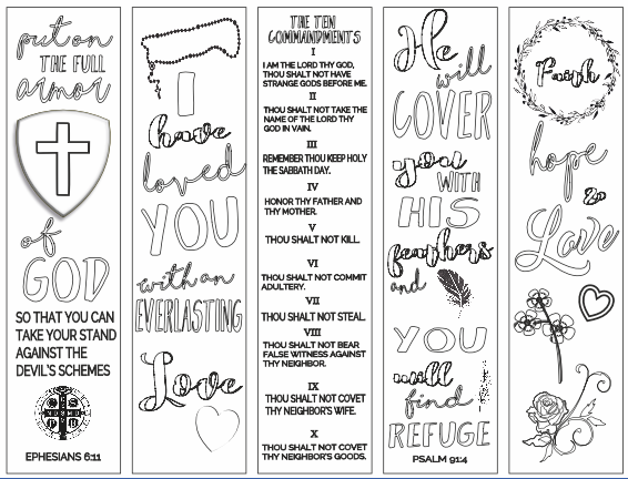 Free Printable Christian Bookmarks To Color