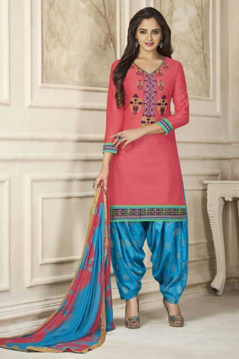 Bulk fancy event wear printed patiyala suit for more details or to