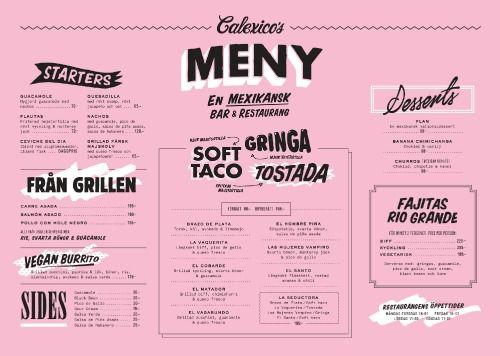 Art of the Menu: Calexico's