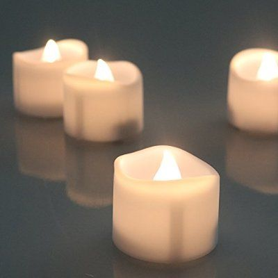 Flameless Votive Candles Micandle 12Pcs Warm White Battery Operated Led Tea Lights