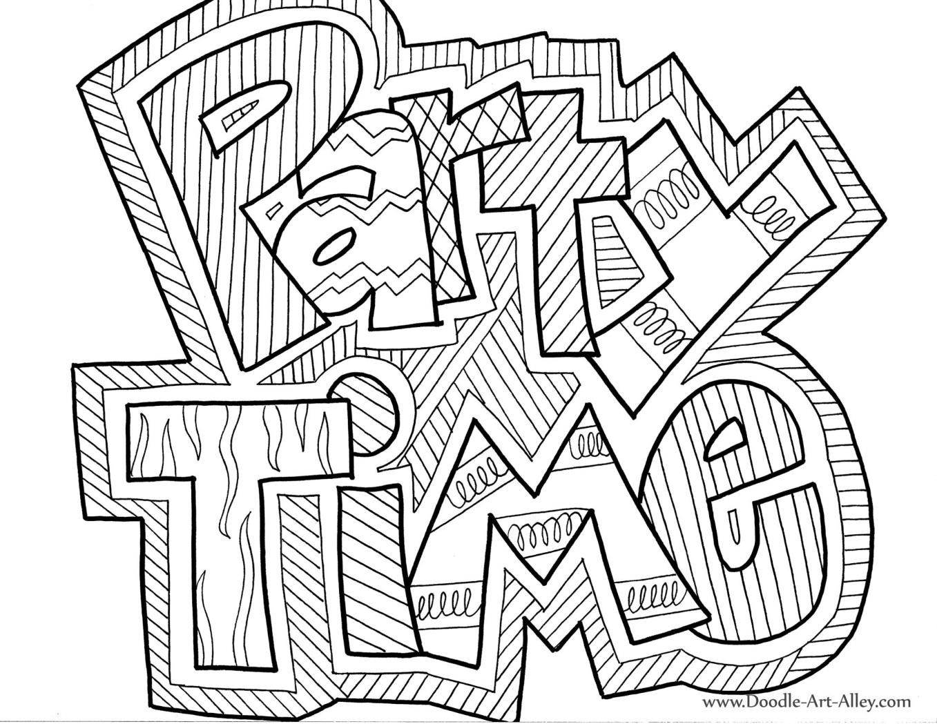 """""""Party Time"""" Coloring Sign"""
