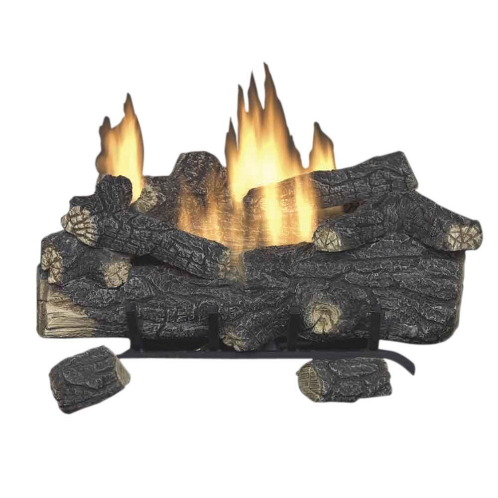 e2294a5c8a3 Savannah Oak 30 in. Vent-Free Propane Gas Fireplace Logs with Remote   PropaneGasTips