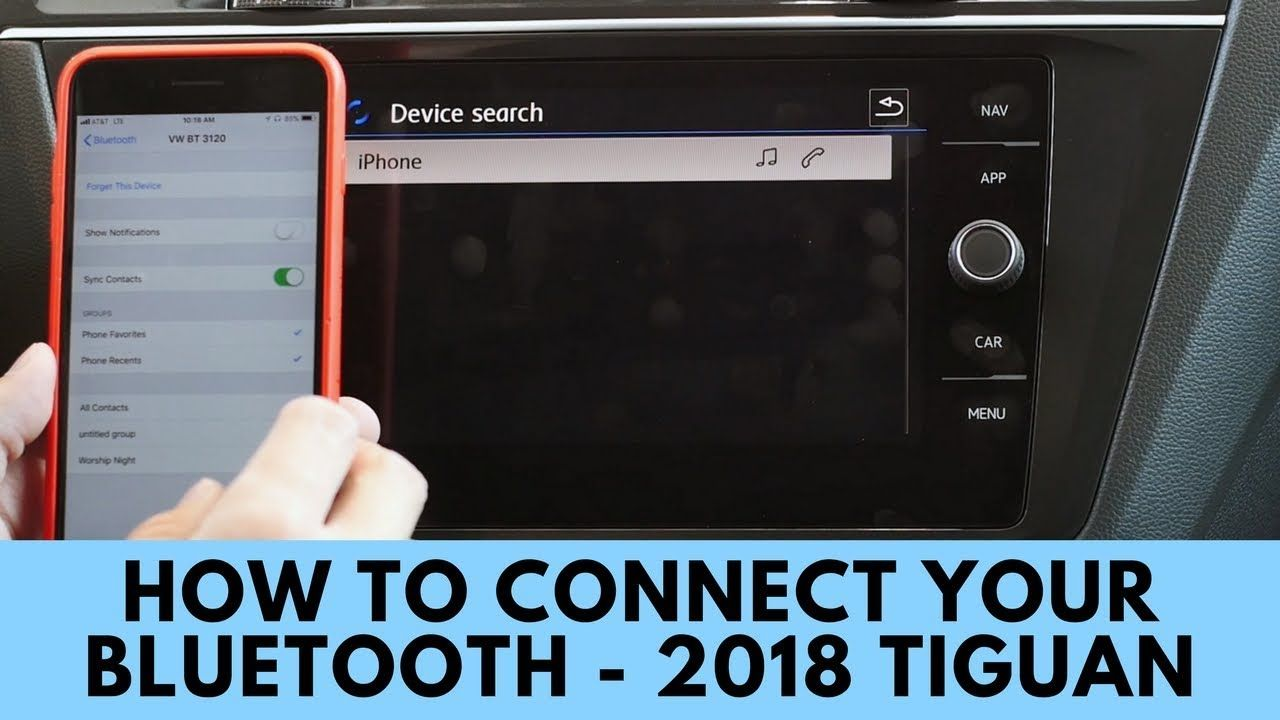 2018 Volkswagen Tiguan How to Connect Bluetooth (With