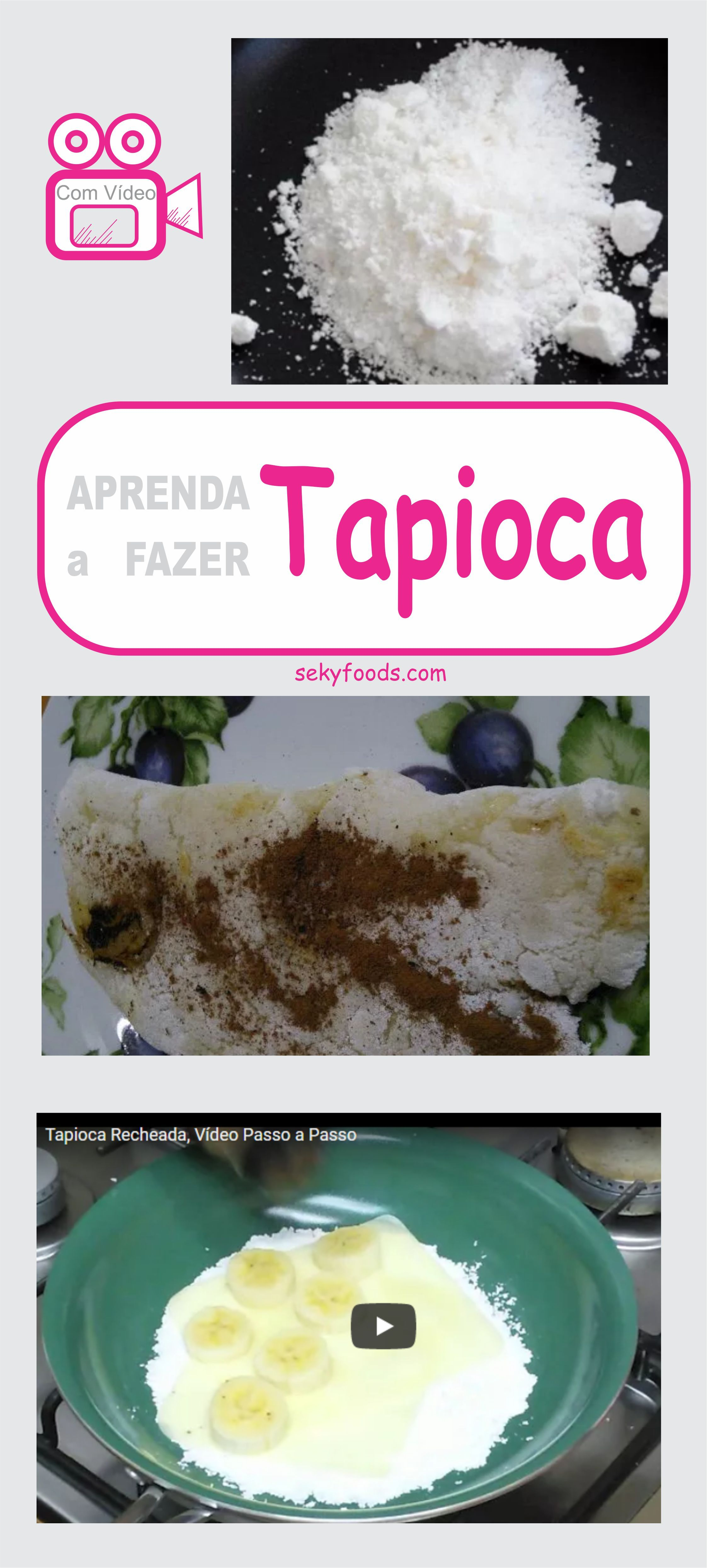 Como Fazer Tapioca Doce e Salgada Facilmente | Como fazer tapioca. Tapioca e Como fazer tapioca doce