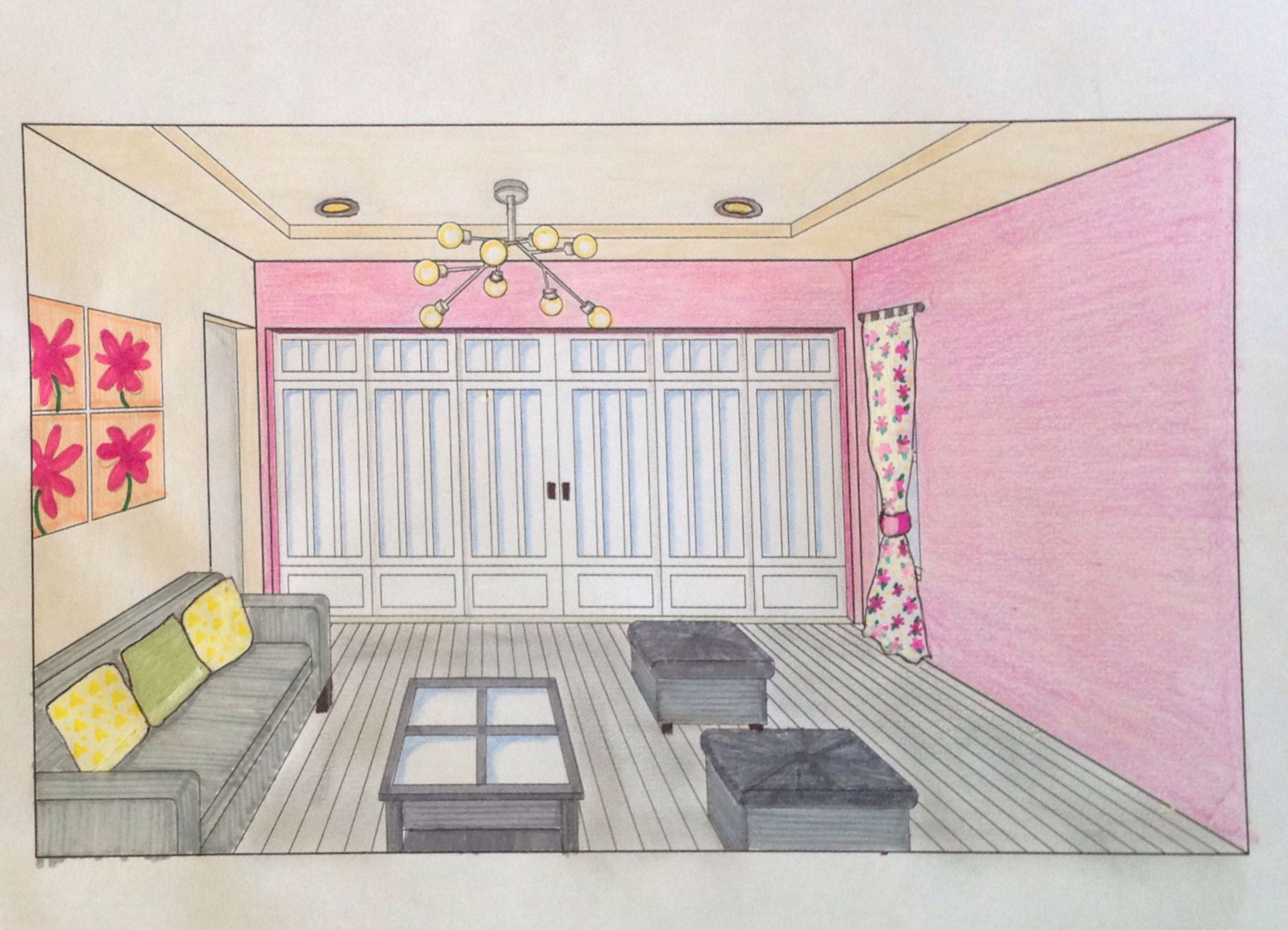 Innenarchitektur Kurse ifiabsolventin ivana granja ansicht eines wohnzimmers aus