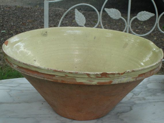 Vintage TIAN Provencal French Antique Pottery Baking Dish One-of-a-kind Handmade Antique TIAN Brocante French Pottery