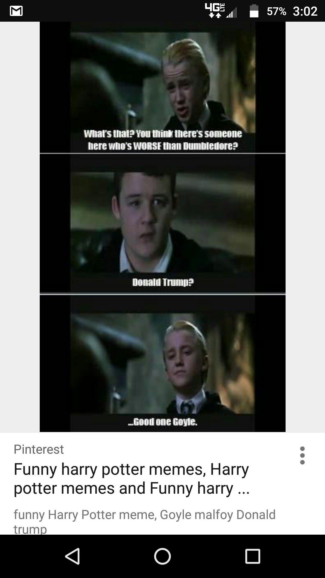 Funny Harry Potter Meme, Goyle Malfoy Donald Trump (Just A