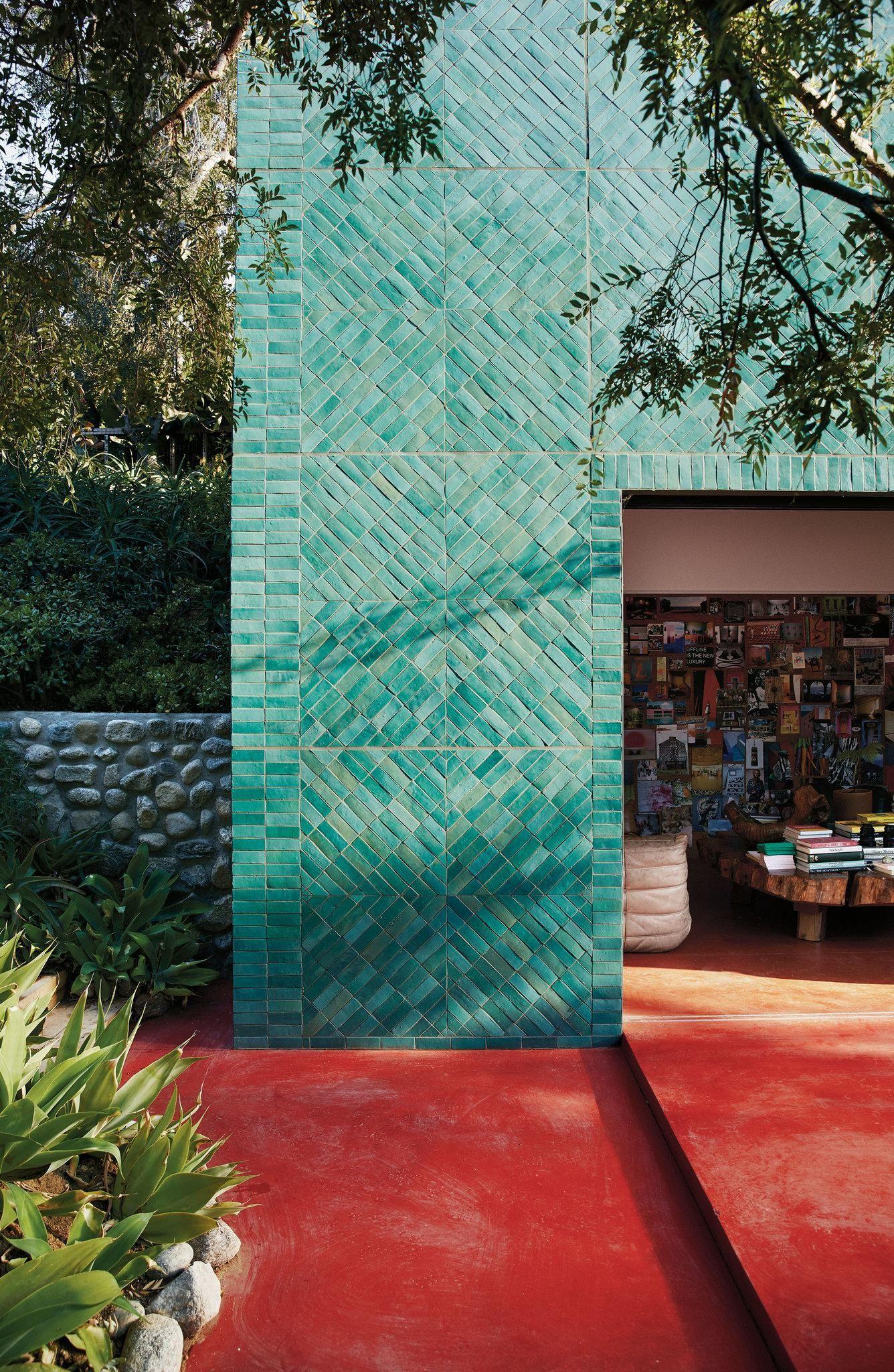 A Look Inside The Flamingo Estate Exterior Tiles Small House Exteriors Chandelier Creative