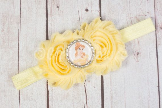 Belle Headband Beauty and the Beast Girls by GirliesGalore on Etsy