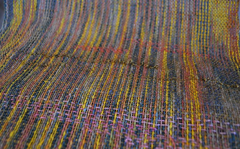 Woven Fabric With Twill Inlay Diy Handwoven Fabric