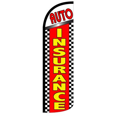 Neoplex Auto Insurance Polyester 11 6 X 3 2 Feather Banner Auto Alignment Auto Body Feather Banners