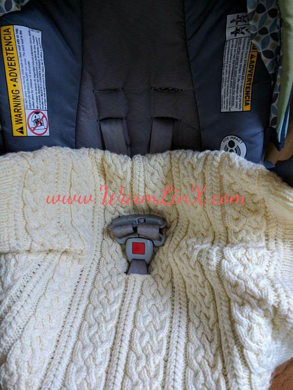 Knitting Pattern Aran Baby Car Seat Blanket Free Knitting
