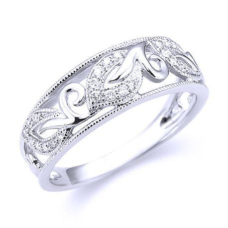 Filigree Diamond RingAndrews Jewelers Buffalo NY trendy jewels