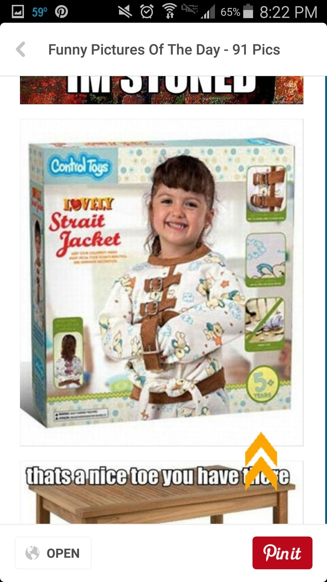 Awkward toys/objects for kids.... a straight jacket?!