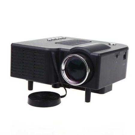 Anself HDMI Portable Mini LED Projector Home Cinema Theater AV VGA USB SD Black