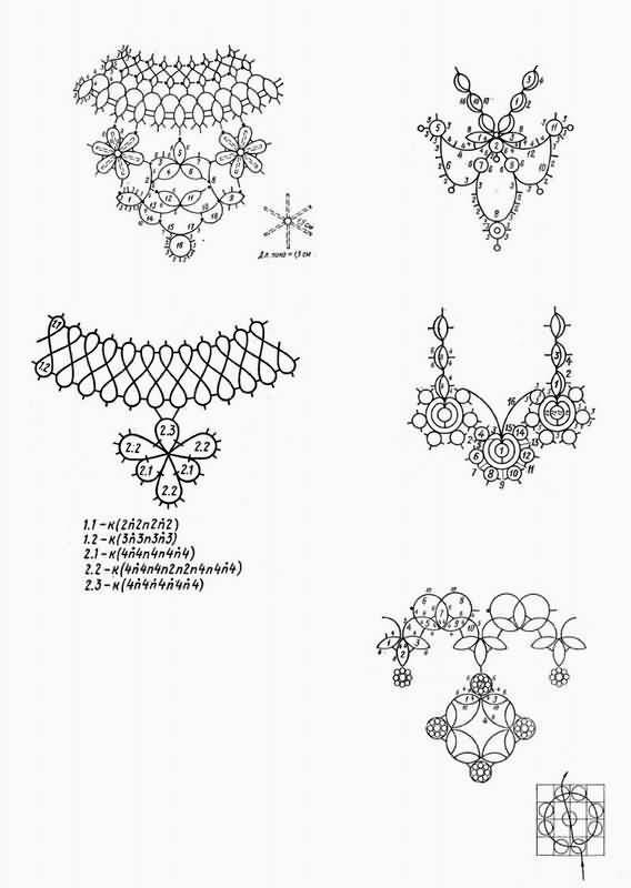 Patron collar y pendientes crochet. colliers et pendentifs ...