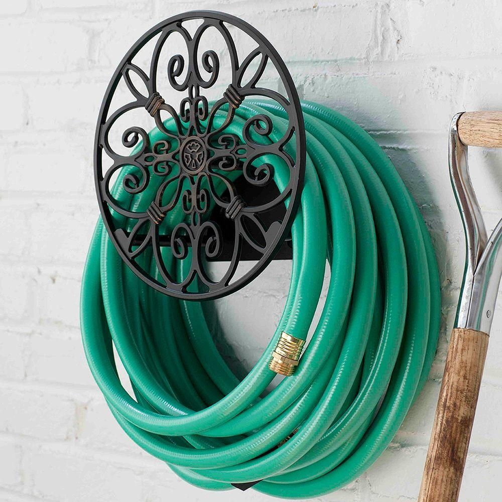 Hampton Bay Round Decorative Hose Butler | Butler, Hose storage and ...