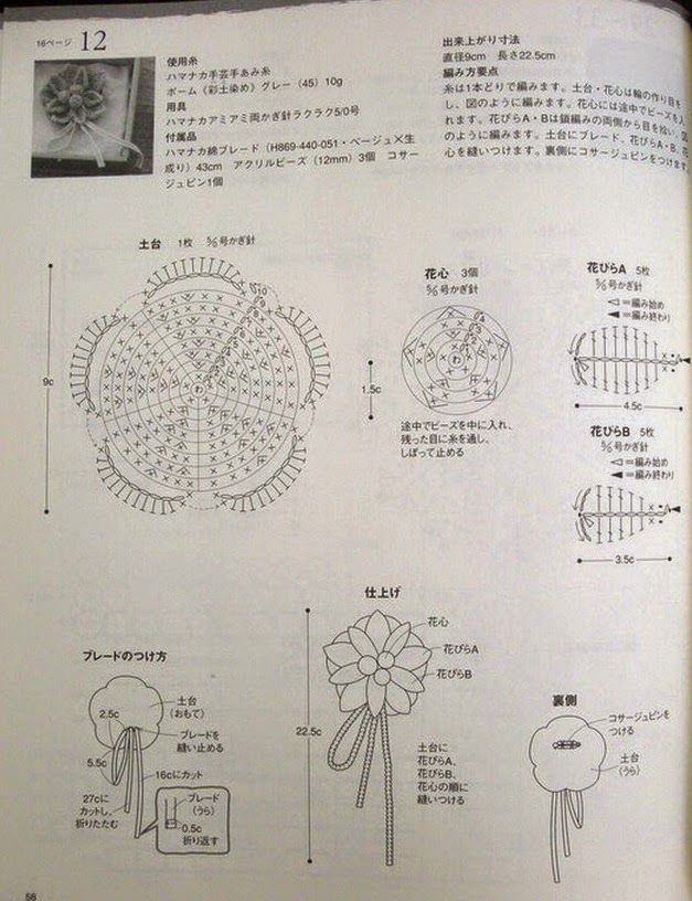 PATRONES GRATIS DE CROCHET: Patrón broche flor a crochet | Flor a ...