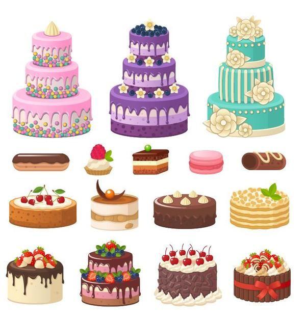 Free Eps File Set Of Cake Illustration Vectors Download