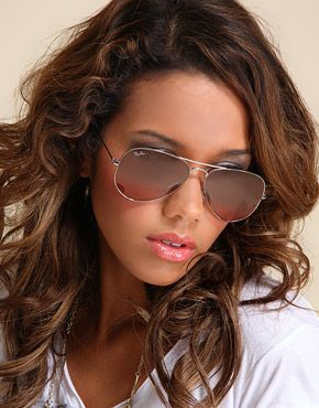 ray ban womens sunglasses sale  Ray Ban Aviator RB3025 Sunglasses Arista Frame Pink Brown ...