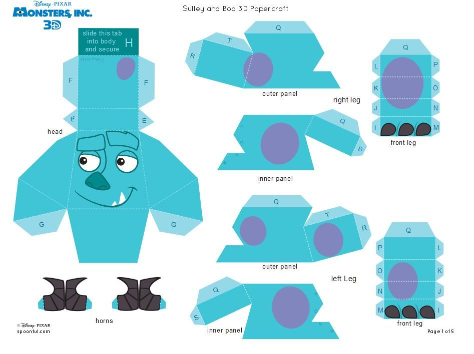 Monsters Inc 3D Sully 1 of 5  b9552681b39