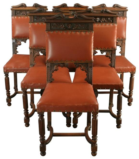 antique chairs ebay red chair nwpa clone recipe french set 6 dining carved lions griffin