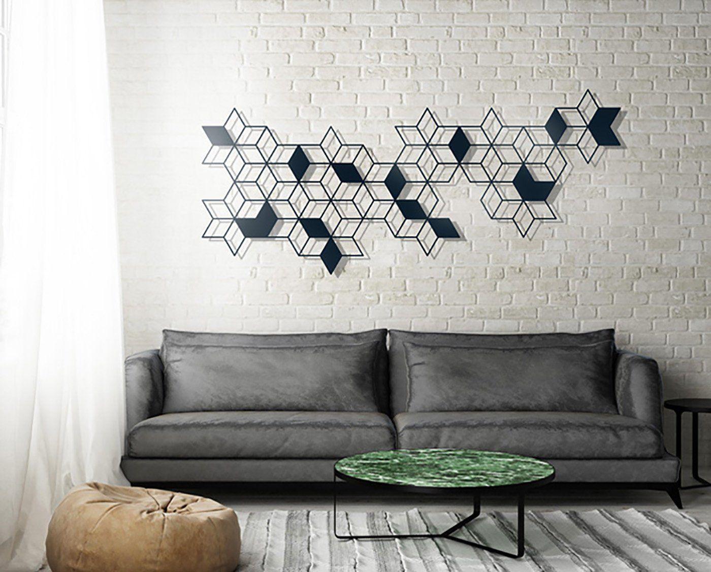 Geometric wall art metal wall art minimalist wall art