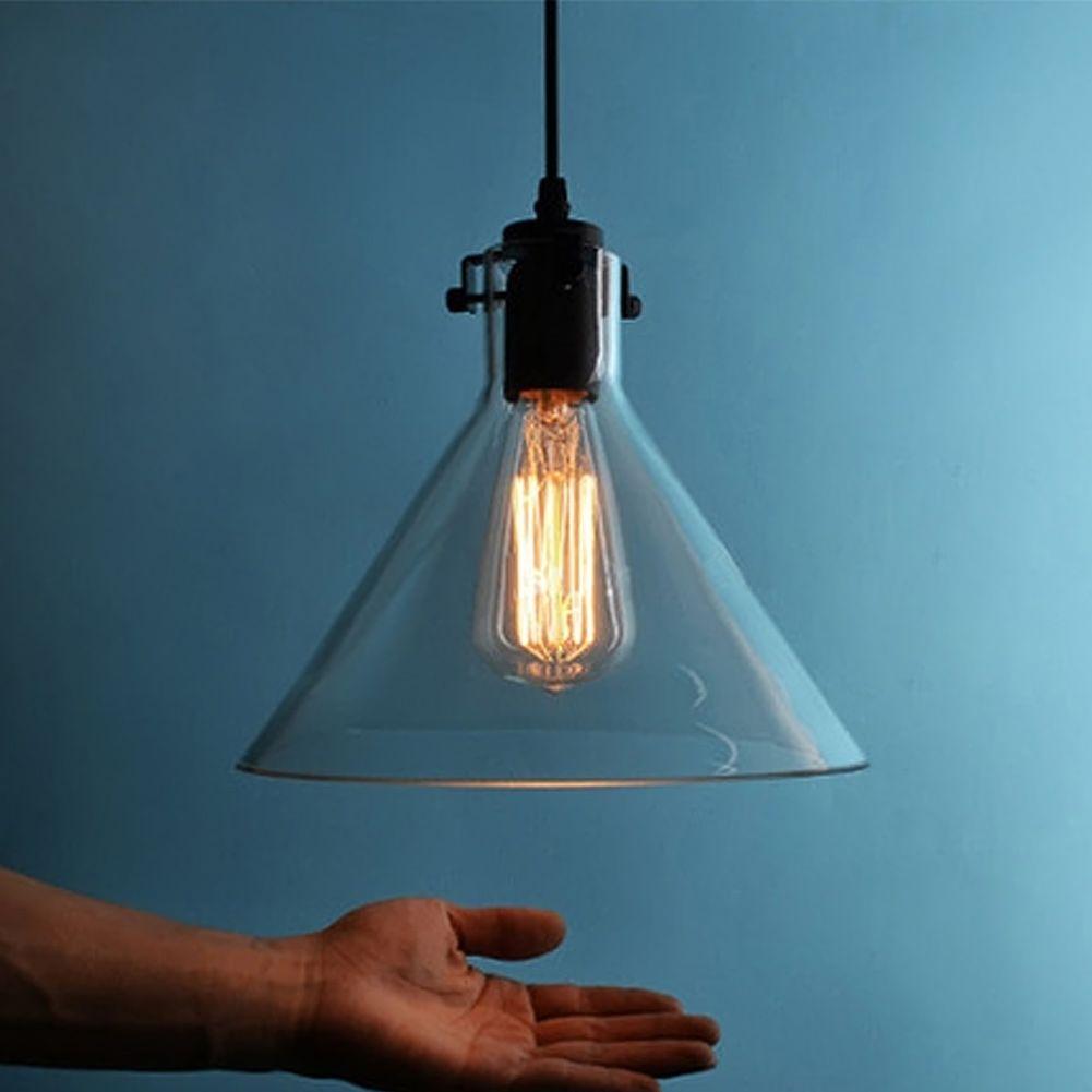 Retro lamps glass pendant lamp restaurant pendant light vintage