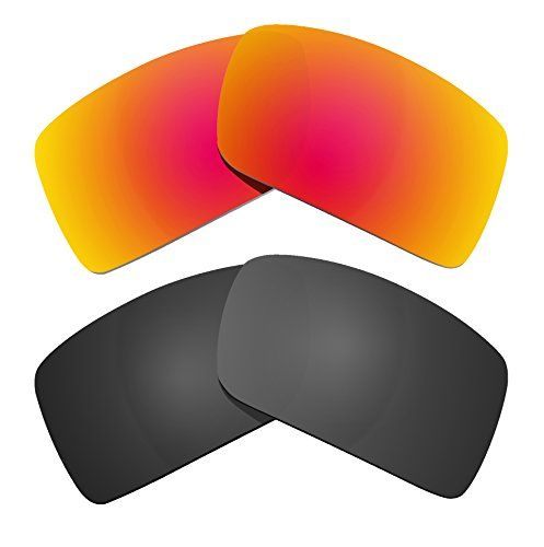 a108e8a38da Littlebird4 2 Pairs Replacement Sunglasses Lenses Compatible with Oakley  Eyepatch 2 Polarized with UV Protection Black and Orange     More info  could be ...