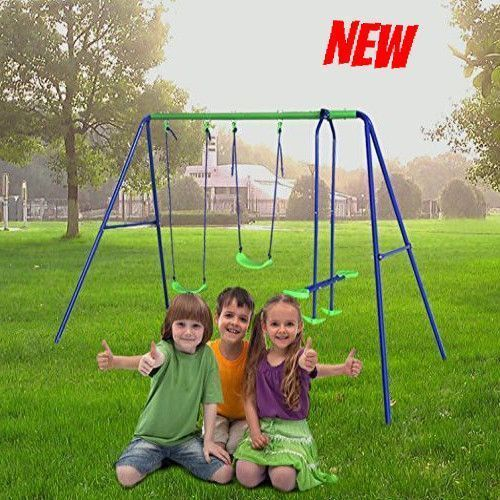 Swing Seesaw Set Outdoor Baby Toddler Kid Swingset Play Toy
