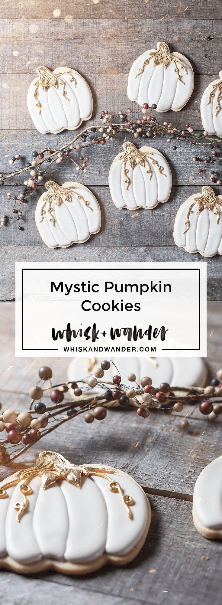 Mystic Pumpkin Cookies — whisk + wander #royalicingrecipe