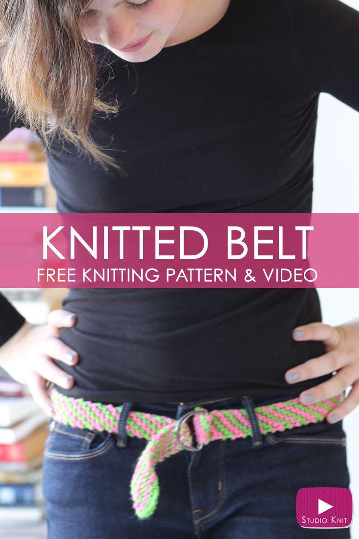 How to Knit a BELT - Free Knitting Pattern + Video | Knitting ...