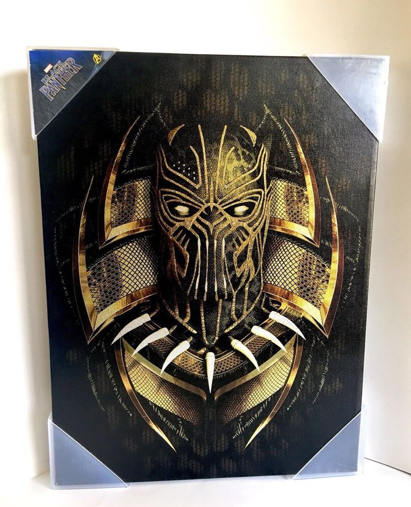 Artissimo Marvel Black Panther Killmonger Picture Painting Wall Art Canvas Print Wall Art Canvas Prints Canvas Prints Black Panther Marvel