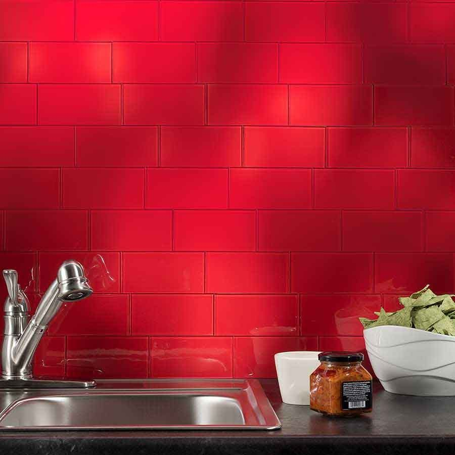 Show Details For Aspect Backsplash 3x6 Glass Tile In Wild